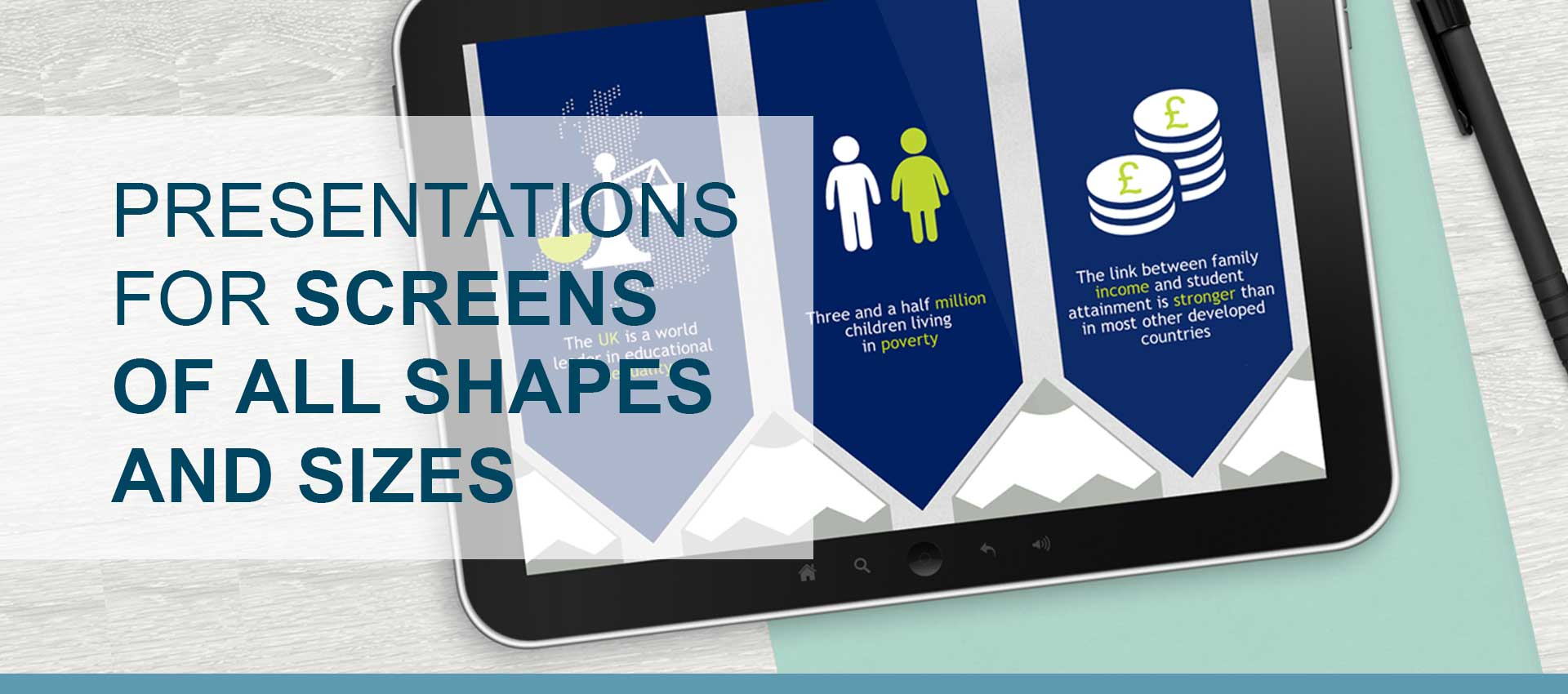 Presentations for screens of all shapes and sizes
